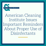 ACI issues statement about proper use of disinfectants