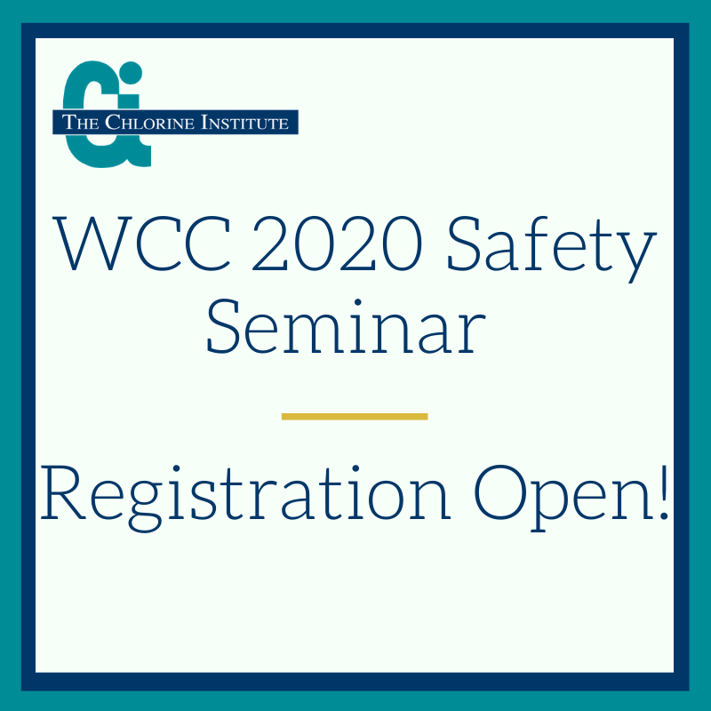 Registration is Open for the 2020 World Chlorine Council Safety Seminar